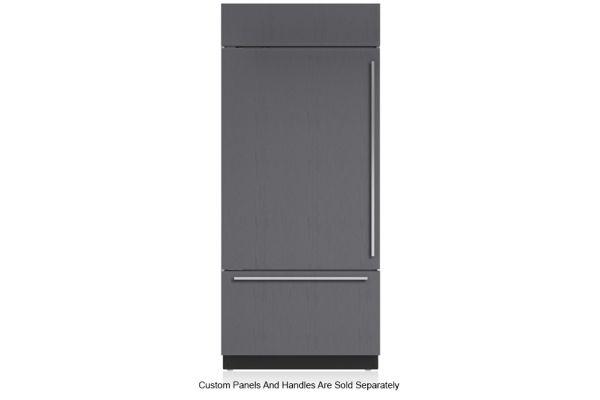 "Large image of Sub-Zero 36"" Panel Ready Left-Hinge Classic Over-And-Under Refrigerator/Freezer With Internal Dispenser - BI-36UID/O-LH"
