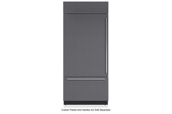 """Large image of Sub-Zero 36"""" Panel Ready Left-Hinge Classic Over-And-Under Refrigerator/Freezer - BI-36U/O-LH"""
