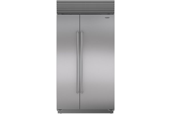 "Large image of Sub-Zero 42"" Stainless Steel Classic Side-By-Side Refrigerator With Pro Handles - BI-42S/S/PH"