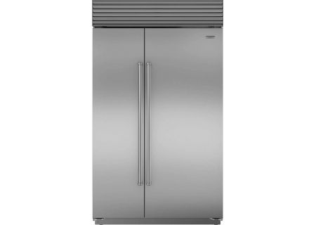 "Sub-Zero 48"" Stainless Steel Built-In Side-By-Side Refrigerator - BI-48S/S/PH"