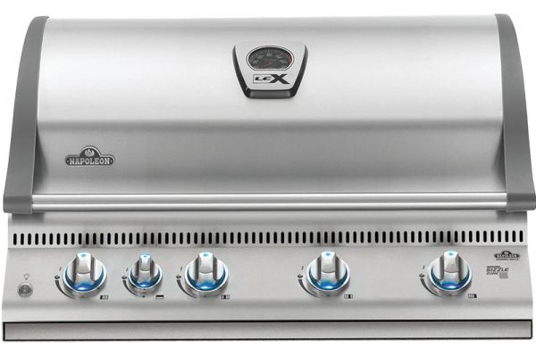 Napoleon Lex 605 Series RBI Stainless Steel Built-In Natural Gas Grill - BILEX605RBINSS