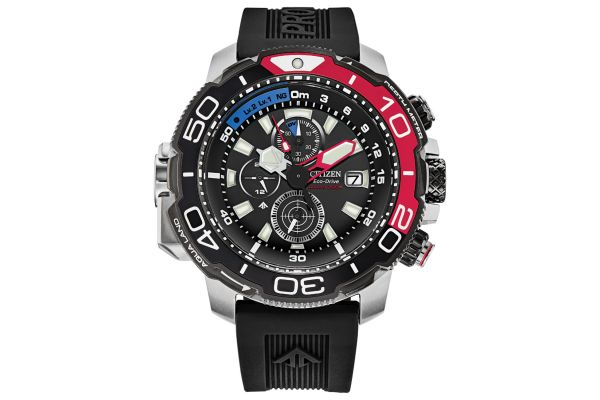 Large image of Citizen Eco-Drive Promaster Aqualand 46mm Black Dial Mens Watch - BJ216703E