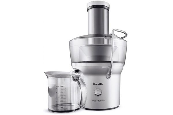 Breville Juice Fountain Compact Stainless Steel Juicer - BJE200XL