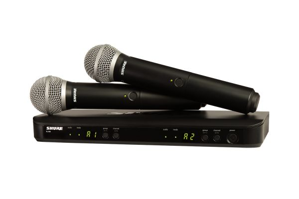Shure Wireless Dual Vocal System With Two Handheld Transmitters - BLX288/PG58