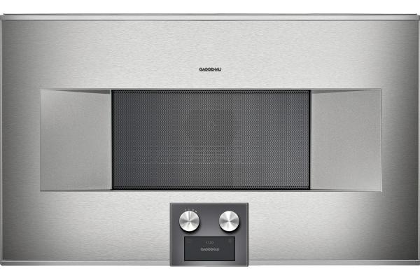 "Large image of Gaggenau 30"" Stainless Steel 400 Series Speed Microwave Oven - BM485710"