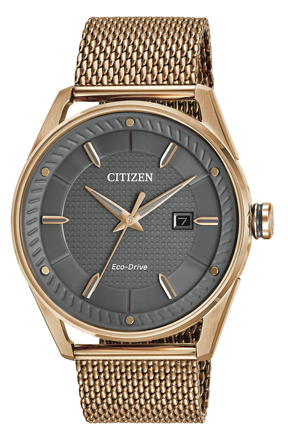 Citizen Eco Drive Cto Rose Gold Tone Mens Watch Bm6983 51h