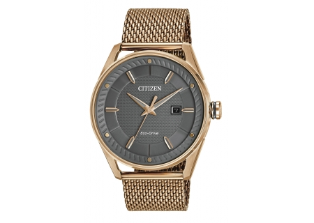 Citizen Eco-Drive CTO Rose Gold-Tone Stainless Steel Mens Watch - BM6983-51H