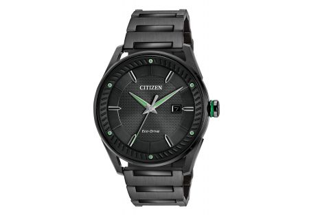 Citizen Eco-Drive CTO Black Stainless Steel Mens Watch - BM6985-55E