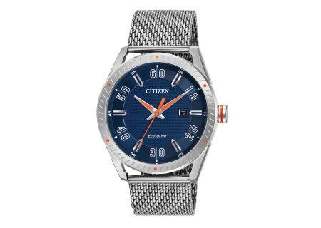Citizen Eco-Drive CTO Silver-Tone Mens Watch - BM6990-55L