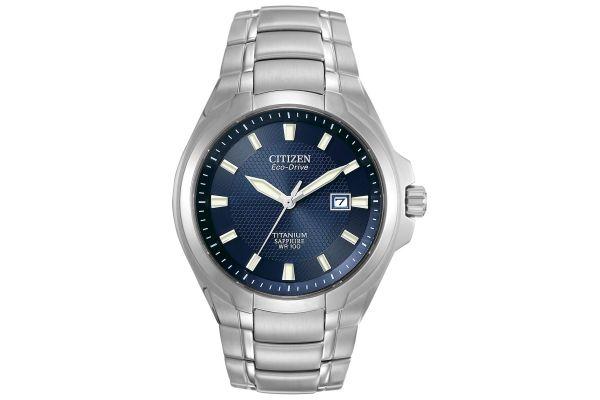Citizen Titanium Blue Dial Mens Watch - BM7170-53L