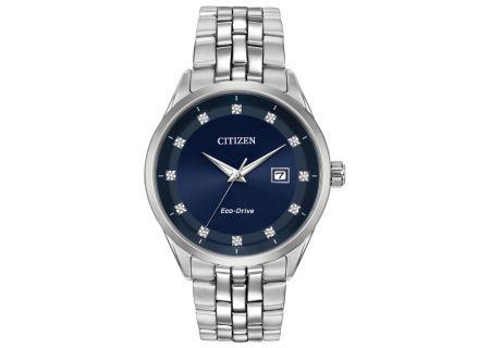 Citizen Eco-Drive Stainless Steel Diamond Corso Mens Watch - BM7251-53M