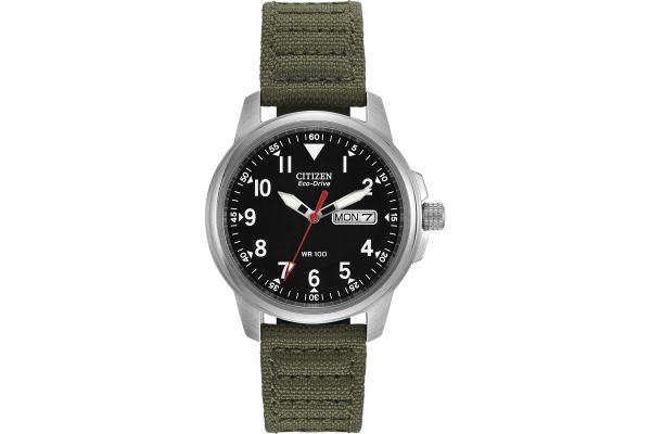Large image of Citizen Eco-Drive Military Caliber E100 Mens Watch - BM818003E