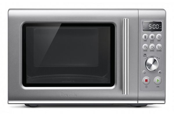 Large image of Breville The Compact Wave Soft Close Microwave - BMO650SIL1BUC1
