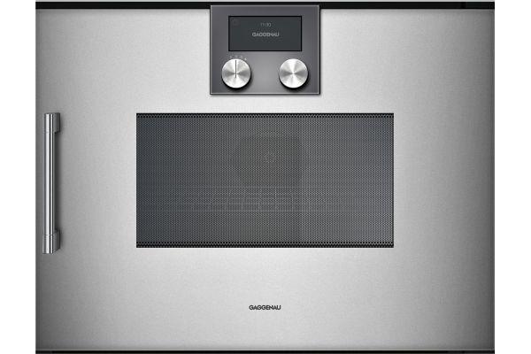 "Gaggenau 24"" 200 Series Glass Front Metallic Speed Microwave Oven - BMP250710"