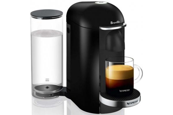 Large image of Breville Nespresso VertuoPlus Deluxe Black Coffee Maker - BNV420BLK1BUC1
