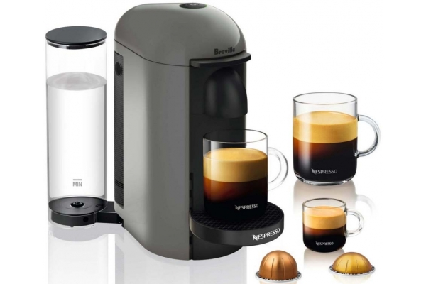 Large image of Breville Nespresso VertuoPlus Grey Coffee Maker - BNV420GRY1BUC1