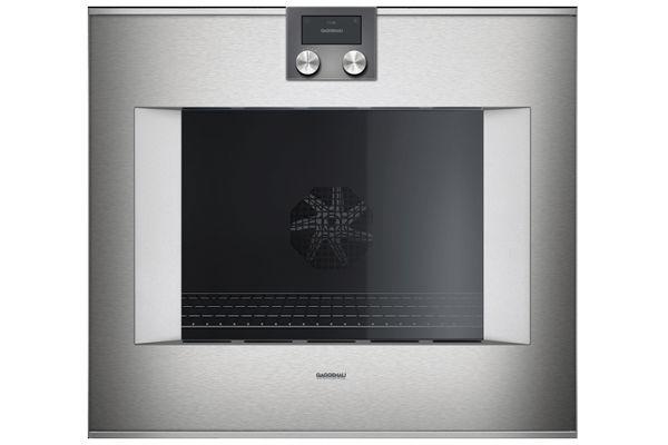 "Gaggenau 30"" 400 Series Left Hinge Glass Front Stainless Steel Single Oven - BO480613"