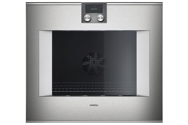 "Gaggenau 30"" 400 Series Left Hinge Glass Front Stainless Steel Single Oven - BO481613"