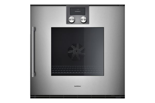 "Large image of Gaggenau 24"" 200 Series Glass Front Metallic Single Oven - BOP250611"
