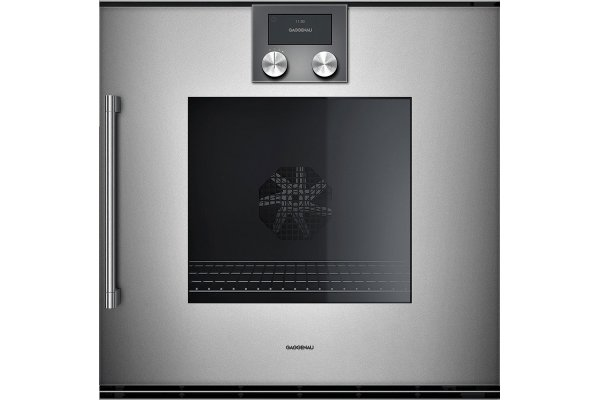 "Large image of Gaggenau 24"" 200 Series Metallic Right-Hinged Single Wall Oven - BOP250612"