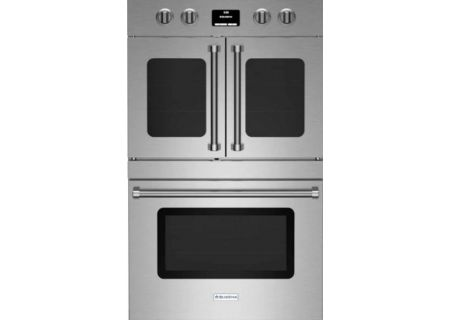"BlueStar 30"" Electric Double Wall Oven With French & Drop Down Doors - BSDEWO30ECSDDDV2"