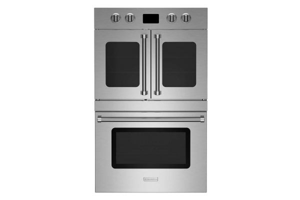 """Large image of BlueStar 30"""" Electric Double Wall Oven With French & Drop Down Doors - BSDEWO30SDV2"""