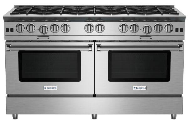 "Large image of BlueStar 60"" Platinum Series Stainless Steel Freestanding Gas Range - BSP6010B"