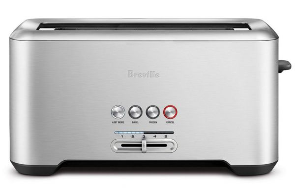 Large image of Breville Bit More Stainless Steel Long Slot 4-Slice Toaster - BTA730XL