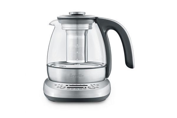 Large image of Breville Smart Tea Infuser Compact Silver Tea Maker - BTM500CLR1BUS1