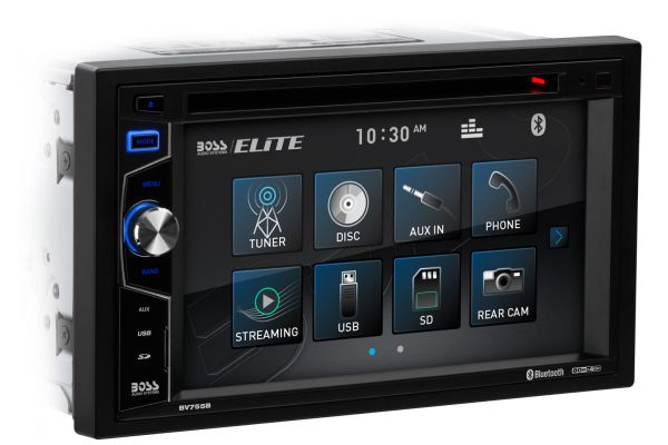 """Large image of BOSS Audio Systems 6.2"""" In-Dash DVD Touchscreen Receiver With Bluetooth - BV755B"""
