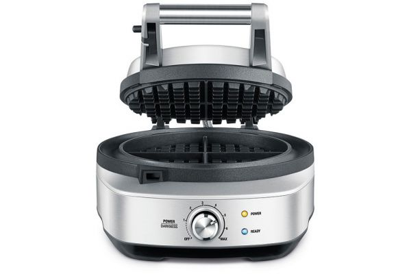 Large image of Breville Stainless Steel No-Mess Waffle Round Waffle Maker - BWM520XL