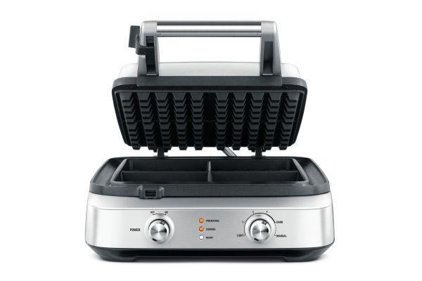 Large image of Breville 4 Slice Smart Waffle Maker - BWM604BSS