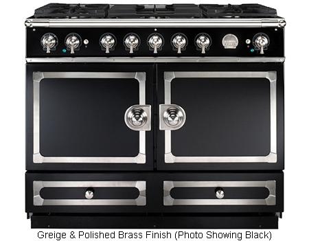la cornue 43 cornufe 110 greigewith polished brass dual. Black Bedroom Furniture Sets. Home Design Ideas
