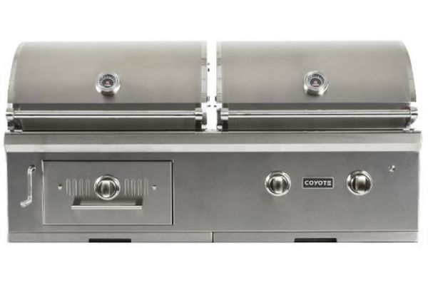 """Coyote 50"""" Stainless Steel Liquid Propane Hybrid Grill - C1HY50LP"""