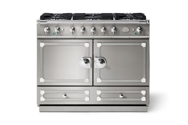 "Large image of La Cornue 43"" CornuFe 110 Stainless Steel With Polished Chrome Dual Fuel Range - C1IP"