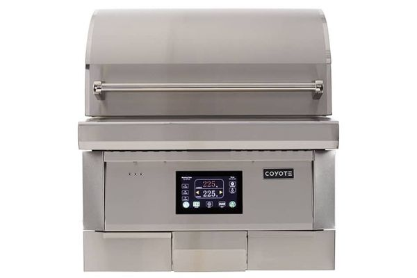 """Large image of Coyote 28"""" Stainless Steel Pellet Grill - C1P28"""