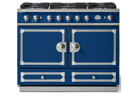 "La Cornue 43"" CornuFe 110 Royal Blue With Satin Chrome Dual Fuel Range - C1RN"