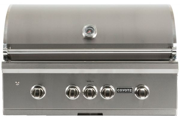 "Large image of Coyote 36"" Stainless Steel S-Series Built-In Liquid Propane Grill - C1S36LP"