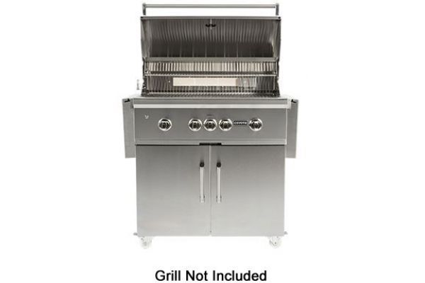 """Large image of Coyote 36"""" Stainless Steel Grill Cart - C1S36CT"""