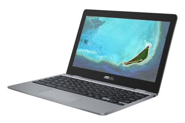 "Large image of Asus Chromebook 12 Gray 11.6"" Intel Celeron N3350 Processor 4GB RAM 32GB eMMC, Intel HD Graphics 500 - C223NADH02"