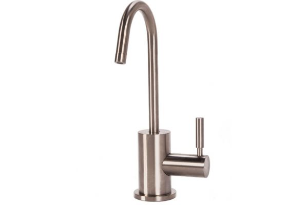 BTI Aqua-Solutions Contemporary C-Spout Cold Only Brushed Nickel Filtration Faucet - C2400-BN
