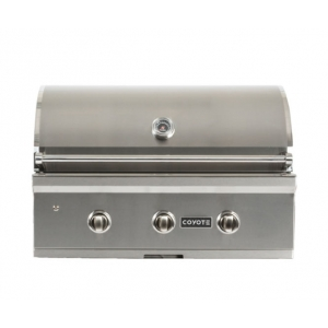 "Coyote 34"" Stainless Steel Built-In C-Series Liquid Propane Gas Grill"