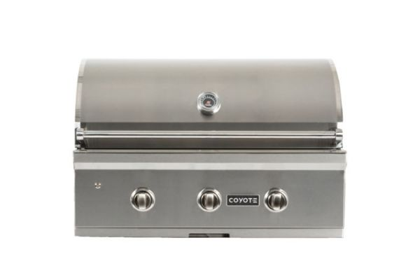 "Coyote 34"" Stainless Steel Built-In C-Series Natural Gas Grill - C2C34NG"