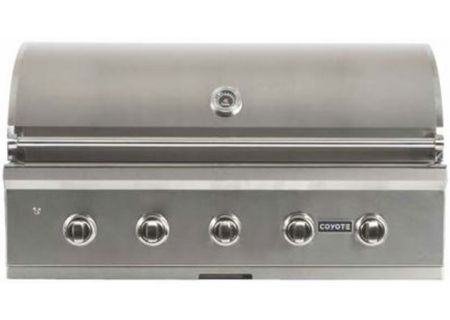 "Coyote 42"" Stainless Steel Built-In C-Series Liquid Propane Gas Grill - C2C42LP"