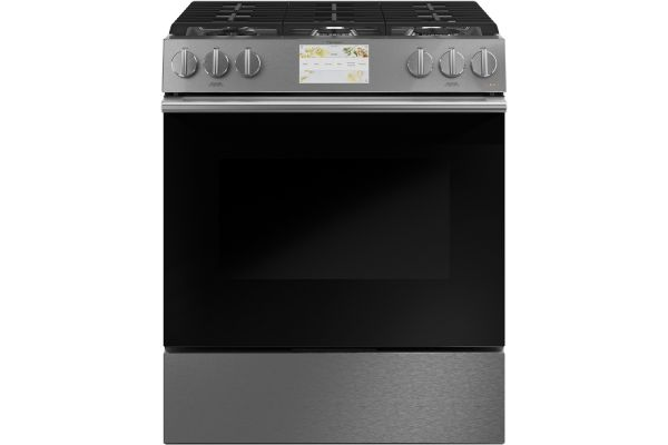 """Cafe 30"""" Platinum Slide-In Front Control Dual-Fuel Oven With Convection Range - C2S900M2NS5"""