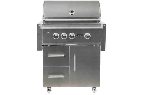 Large image of Coyote S-Series Stainless Steel Liquid Propane Gas Grill - C2SL30LP-FS