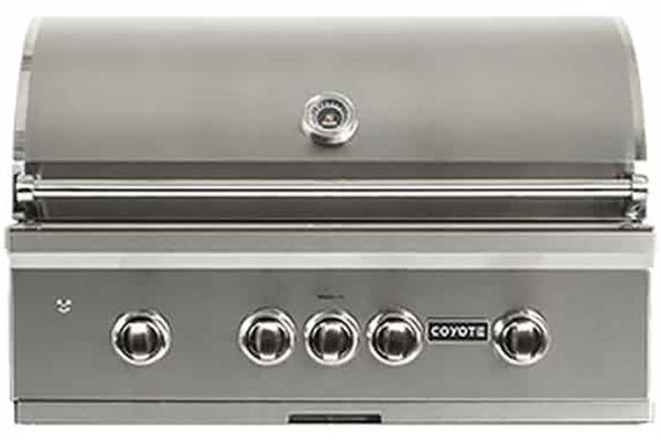 """Coyote 36"""" Stainless Steel Built-In S-Series Natural Gas Grill - C2SL36NG"""