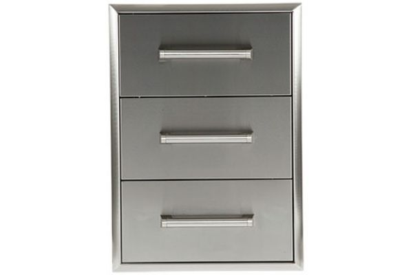 Large image of Coyote Stainless Steel Three Drawer Cabinet - C3DC