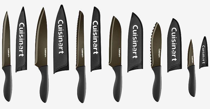 Cuisinart Metallic Black 6-Piece Knife Set With Blade Guards