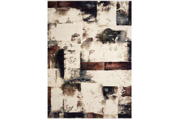 """Large image of Kalora Suza 7'10""""x 10'6"""" Cream Red Multi Distressed Blocks Rug - C841/4459 240320"""